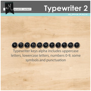 Typewriter Alpha- Black