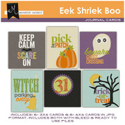 Eek Shriek Boo Journal Cards