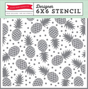 Summer Party Pineapples Stencil