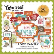 I Love Family Element Pack 3