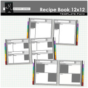 Recipe Book Templates 12x12