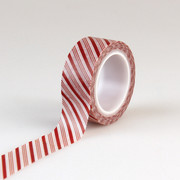 I Love Christmas Decorative Tape - Candy Cane Stripe