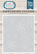 I Love Winter Embossing Folder - Snowflake #2