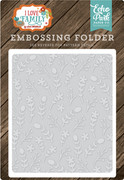 I Love Family Embossing Folder - Floral Stem