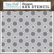 I Love Family Floral Lace Stencil
