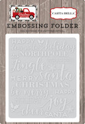 Christmas Delivery Embossing Folder - Holiday Phrases