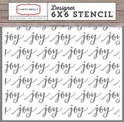 Christmas Delivery Joy Stencil