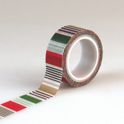 Deck the Halls Decorative Tape - Holiday Stripe