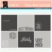 You Are Loved Photo Toppers