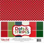 Christmas Silver Foil Dot Collection Kit