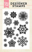 Snow is Falling 4x6 Stamp