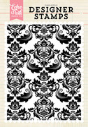 Fancy Damask A2 Background Stamp