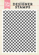 Diagonal Plaid A2 Background Stamp