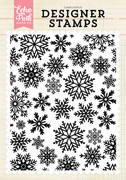 Winter Snow A2 Background Stamp