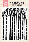 Winter Trees A2 Background Stamp