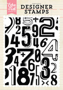 Subway Numbers A2 Background Stamp