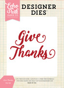 Give Thanks Word Die Set