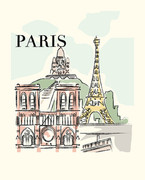 Paris Art Print - 8x10