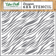 Jungle Safari Zebra Print Stencil