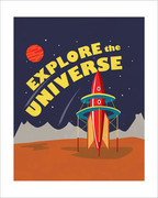 Explore the Universe Art Print - 8x10