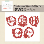 Christmas Wreath Words Cut Files