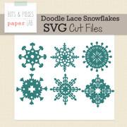 Doodle Lace Snowflakes Cut File