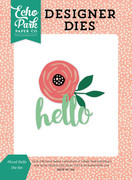 Floral Hello Die Set