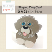 Shaped Dog Card Cut Files
