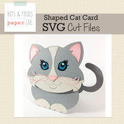 Shaped Cat Card Cut Files