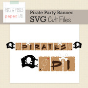Pirate Party Banner Cut Files