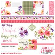 Watercolor Florals Elements 1