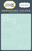 Rock-a-Bye Baby Boy Embossing Folder - Little One Boy