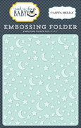 Rock-a-Bye Baby Boy Embossing Folder - Stars & Moon