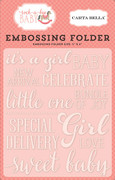 Rock-a-Bye Baby Girl Embossing Folder - Sweet Baby Girl