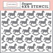Rocking Horse Stencil