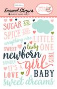 Rock-a-Bye Baby Girl Enamel Shapes