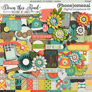 Purchase Includes:  1- full cork circle alpha with uppercase, lowercase, numbers 0-9, some symbols & punctuation 15- patterned 12x12 backgrounds, 6- solid 12x12 backgrounds 68- elements  **These products are downloadable digital files. You will not receive physical products.**