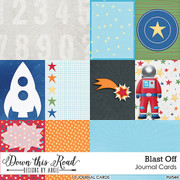 Blast Off Journal Cards