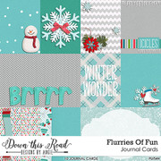 Flurries Of Fun Journal Cards