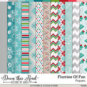 Flurries Of Fun Paper Pack