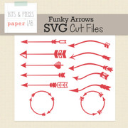 Funky Arrows Cut Files