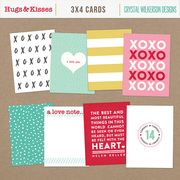 Hugs & Kisses (XOXO) - 3x4 Cards