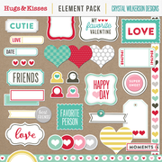 Hugs & Kisses (XOXO) - Element Pack