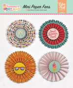 Summer Dreams Mini Paper Fans