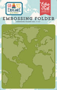 Go See Explore Embossing Folder - Around the World