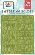 Go See Explore Embossing Folder - Explore
