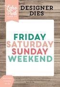 Block Friday to Sunday Die Set