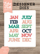 Months of the Year Die Set