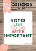 Week Notes Word Die Set