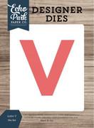 Letter V Die Set